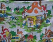 Vintage Smurf Sheet Set