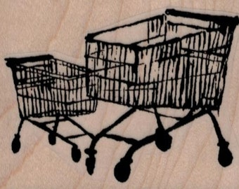 Banksy  shopping carts  rubber stamps  cling stamp unmounted or wood mounted 19431 craft scrapbook supplies