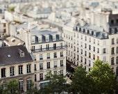 "Paris Photography, Rooftops Photo, White Wall Art, Dreamy Paris Decor, Travel Print, Architecture Art French Wall Decor ""Petit Paris"""