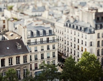 "Paris Photography, Rooftops Photo, White Wall Art, Dreamy Paris Decor, Travel Print, Architecture Art French Wall Decor ""Petit Paris"""