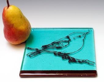 Bird Fused Glass Trivet