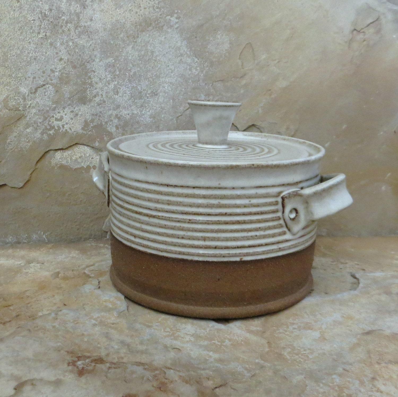 Ceramic Stoneware Baking : Lidded casserole baking dish handmade stoneware ceramic