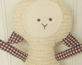 Eco-Friendly Toy  Soft Lamb Doll, Plush, Natural Stuffed Animal
