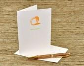 You're a peach - letterpress card
