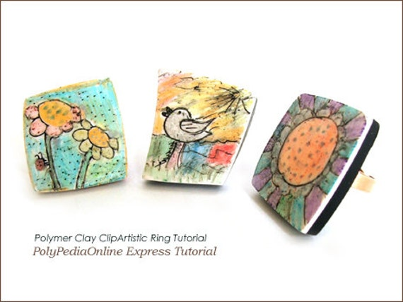 Polymer clay tutorial painting on clay with liquid clay for Clay mural tutorial