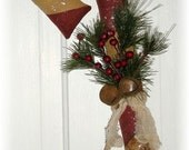 Primitive Winter Christmas Candy Cane Door hanger Doll epattern pattern