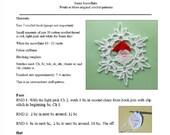 Santa Snowflake - pdf crochet pattern