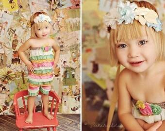 Petti Romper PDF Girls Pattern Newborn 12-24 - 6 Instant Download