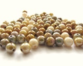 Opaque Earth Tones Smooth Round Glass Luster Mix, 4mm - 100 pieces