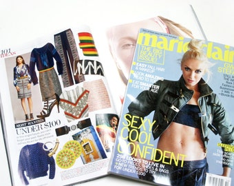 Ikat Clutch, Brown leather clutch, Leather bag, Brown leather bag, Foldover leather clutch, As seen in Marie Clarie Magazine, Indigo ikat