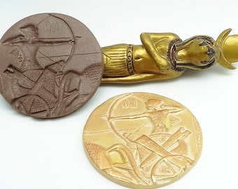 Large 50mm Mold - Egyptian King Tutankhamun Archer - Polymer Clay