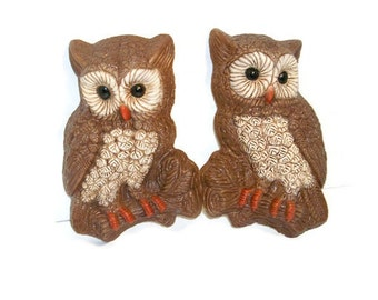 Vintage Retro Owls Wall Decor
