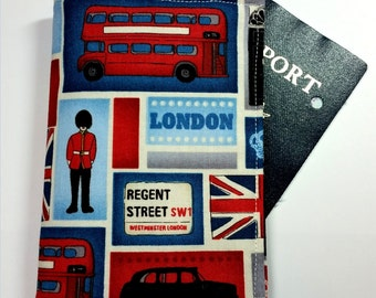 Passport case / passport holder / passport cover : London UK