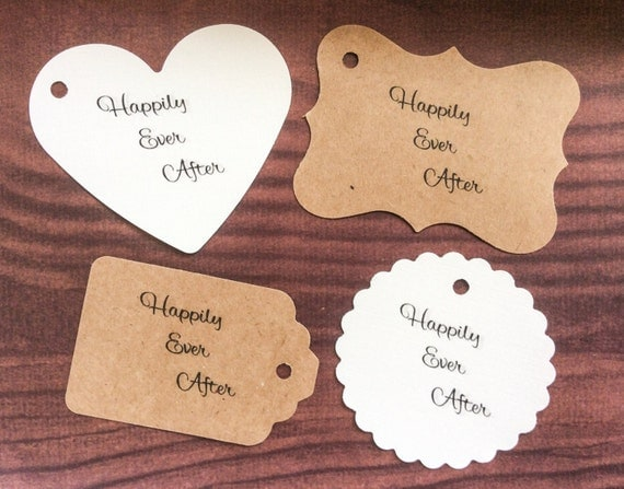 Happily Ever After - 50 Wedding Tags - Personalized Tags - Fairy Tale Theme