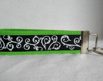 Scrolls Key Fob LIME Green Keychain