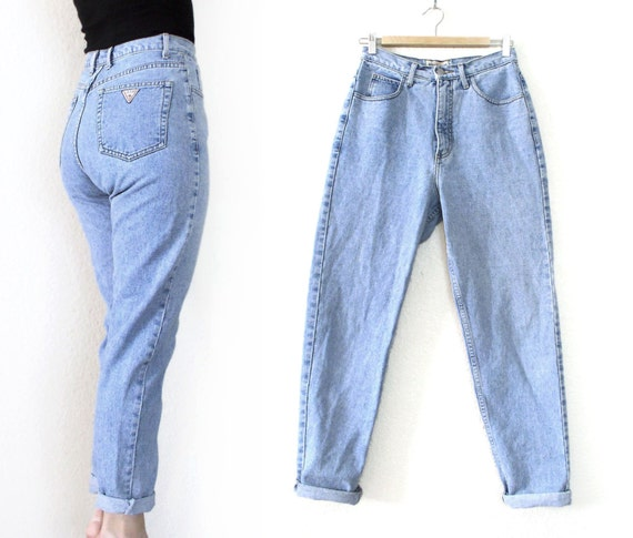 vintage 80s 90s high waisted tapered leg guess jeans. Black Bedroom Furniture Sets. Home Design Ideas