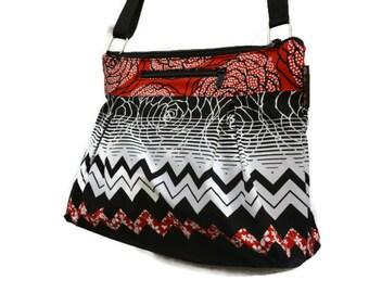iPad Purse Kindle Handbag iPad Shoulder Bag Nook Purse Padded Electronics Pocket MEDIUM HOBO BAG Chevron Elegance Fabric