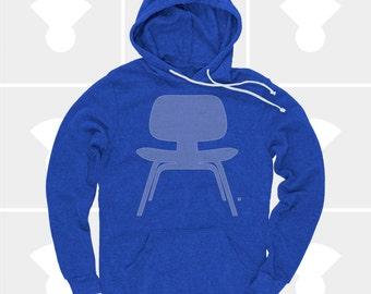 Men's Hoodie Eames Plywood Chair (Men) Mid Century Modern, Eames Chair Sweatshirt, Men Pullover Hoodie Sizes S,M,L,Xl,Xxl (4 Colors) for Men