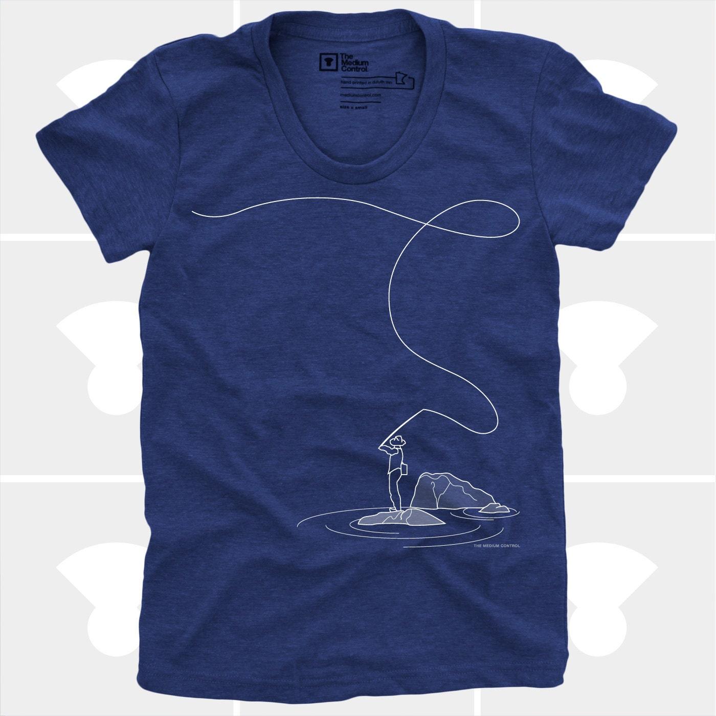 Women 39 s tshirt fly fishing women womens top smlxl for Best fishing shirts