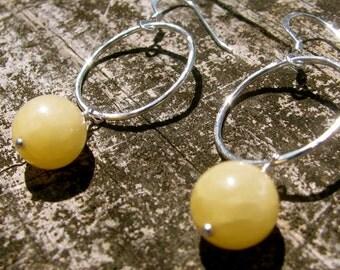 Honeystone Orbit Earrings