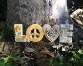 Retro Love Mosaic Art