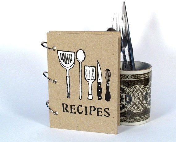 Blank Recipe Book - Utensils (4 in x 6 in) - Size No.1