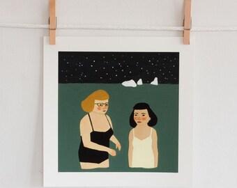 Night Swimmers print