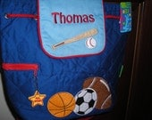 Personalized Stephen Joseph Quilted Back Pack Sports by Never Felt Better