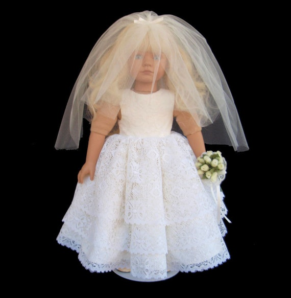 American girl doll clothes ruffle wedding gown dress for American girl wedding dress
