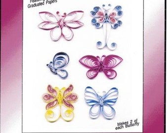 NOTHING But BUTTERFLIES Quilling kit PAPLIN papercrafting scrapbooking