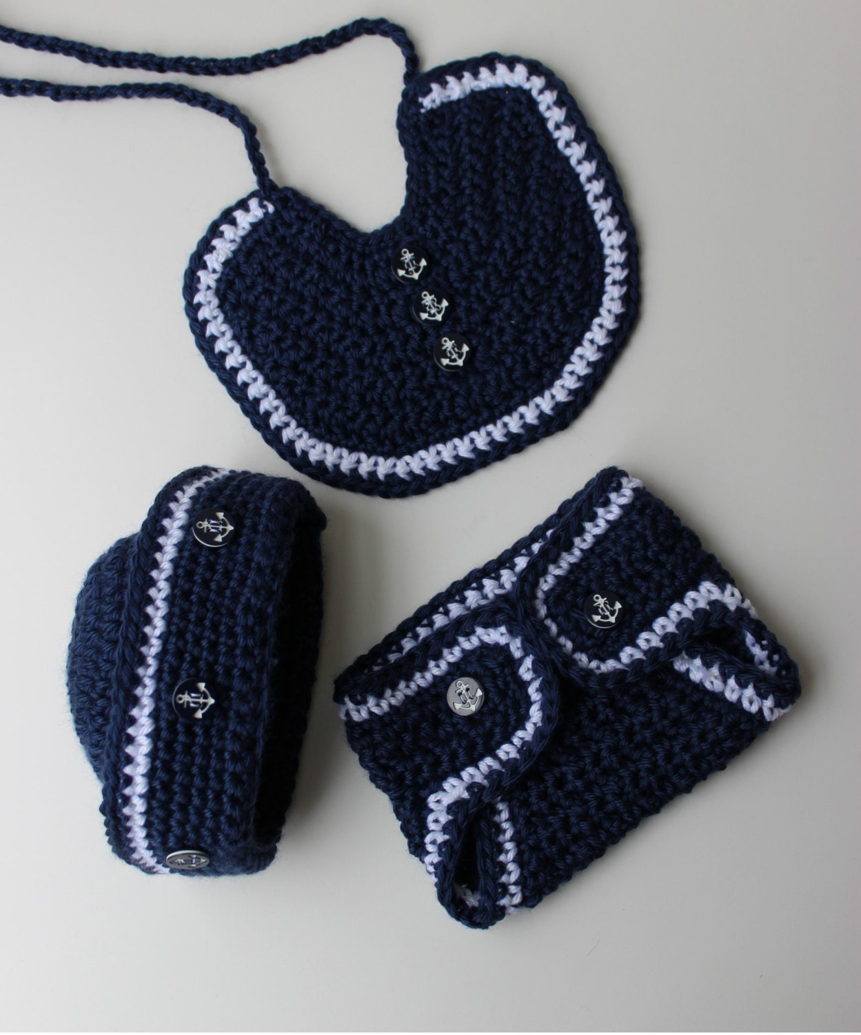 Crochet Pattern Sailor Hat : Crochet Sailor Hat Pattern Crochet Bib Pattern Crochet