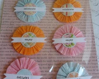 The Girls Paperie Jubilee Flower Market Crepe Paper Rosettes set of 6