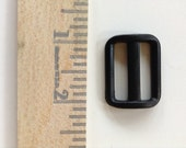 TRIGLIDE - 1 Inch - Black Plastic - 10 Pieces