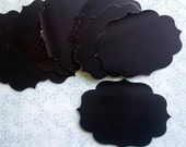 8 Scalloped Chalkboard Adhesive Label Tag