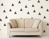 Triangle Wall Decals - Large Triangle Decals - Geometric Wall Mural Decal - Dorm Decor Decals - Triangle Decal - Statement Decal - WD1050