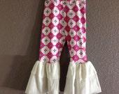 GIRLIE TILE Pink/Turquoise Bellbottoms