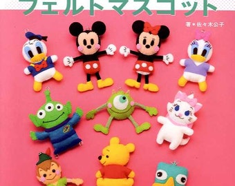 I love Disney Felt CHARACTER MASCOTS 2 - Japanese Craft Book