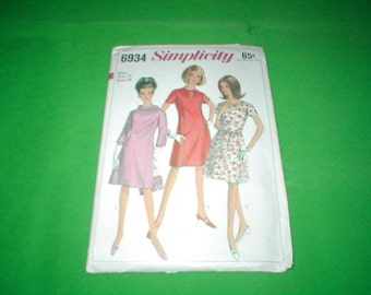 Vintage Simplicity 6934 Miss Dress in 3 styles