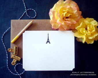 Paris Card, Eiffel Tower Card, French Card, Paris Wedding, French Theme, Romantic Gift, Gift for Her, Note Card, Cute Card, Letterpress
