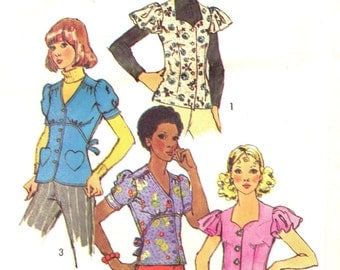 Simplicity 5803 Blouse Trio with TIE BACK circa 1973