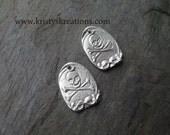 Silver Skull & Crossbones Charms