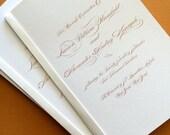 Gold Monogram- wedding program
