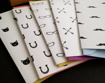 Pattern Blank Cards- set of 8