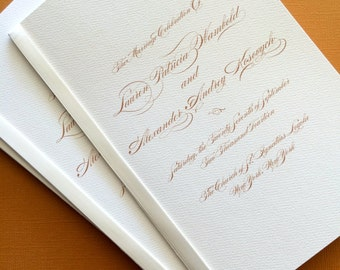 Gold Monogram- wedding program