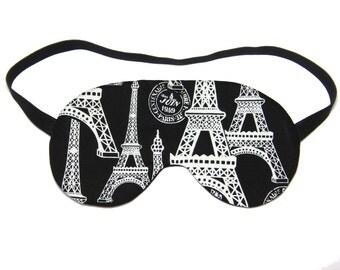 Black and White Eiffel Tower Sleep Eye Mask