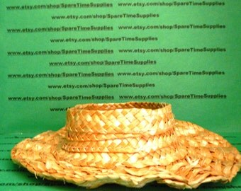 """Darice - 80010  Straw Hat - open top - 6"""" - natural - 1 pc"""