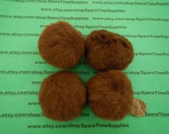 """Darice - 10179-50  pom poms - lt brown  - 2""""  - 8 pcs"""