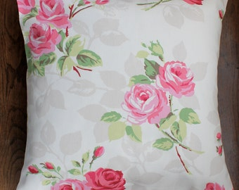 """16"""" x 16"""" cushion cover - pink shabby roses"""
