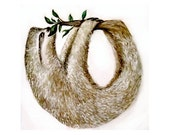 """Watercolor Painting """"Sloth Ouroboros"""" 4x6, 5x7, or 8x10 Art Print"""