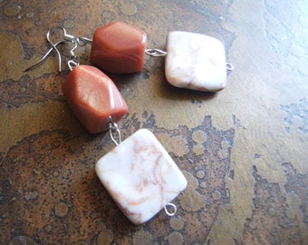 Sienna Touch Redline Marble and Glass Beaded Dangle earrings
